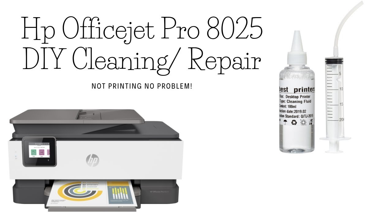 Hp officejet Pro 8025 - Not Printing Black or Color - Solved!