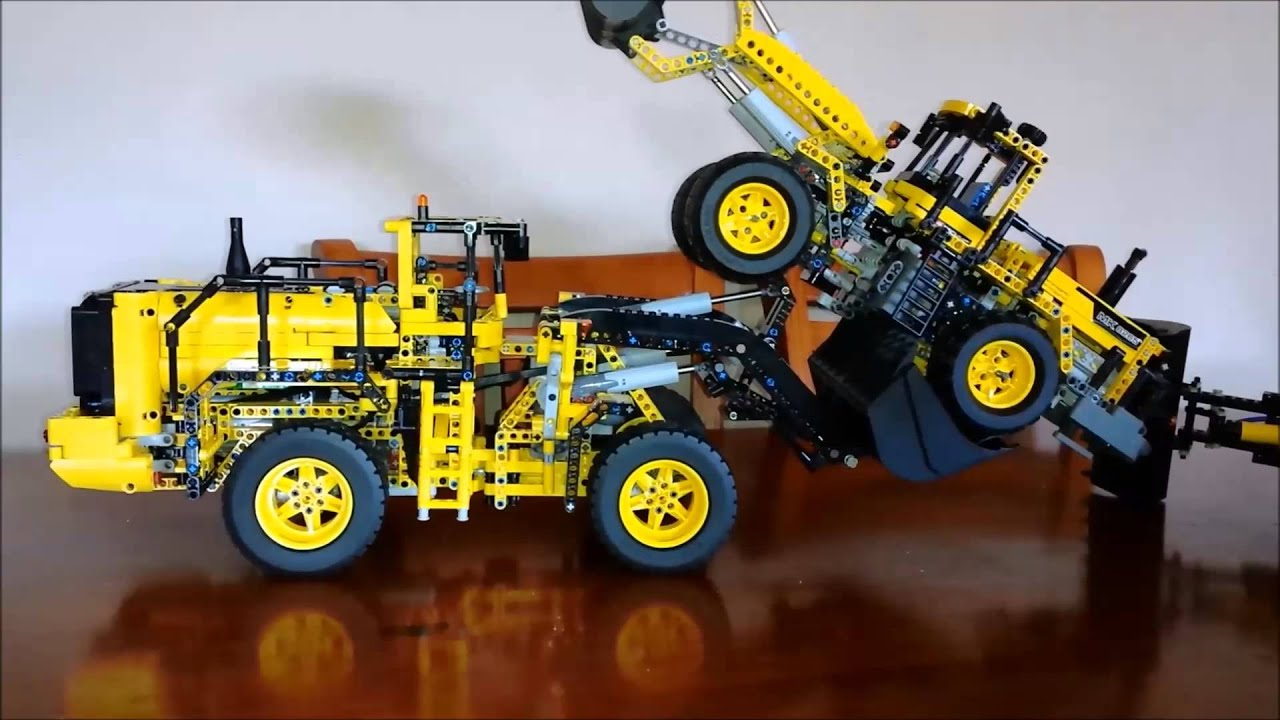 lego technic volvo loader 42030 lifting loader 8265 youtube. Black Bedroom Furniture Sets. Home Design Ideas