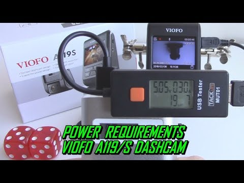 Power Consumption Test Viofo A119S Dash Cam