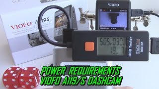 A119S Dash Cam Power Requirements VIOFO A119