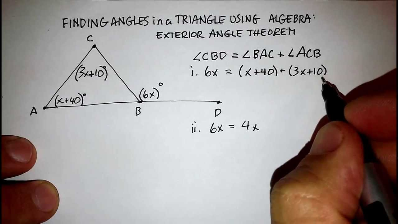 Triangles exterior angle theorem youtube - The exterior angle theorem answers ...