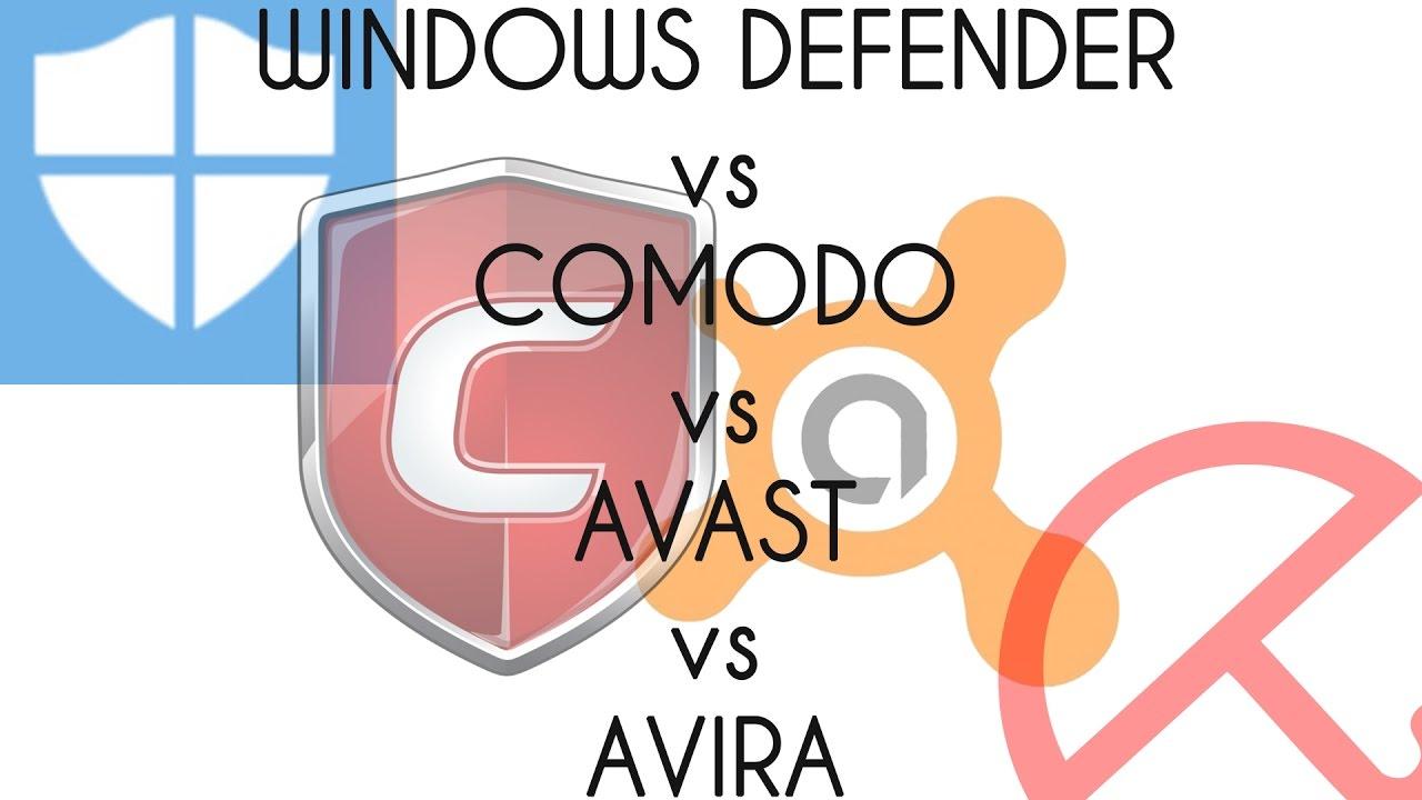 defender vs avast windows 10