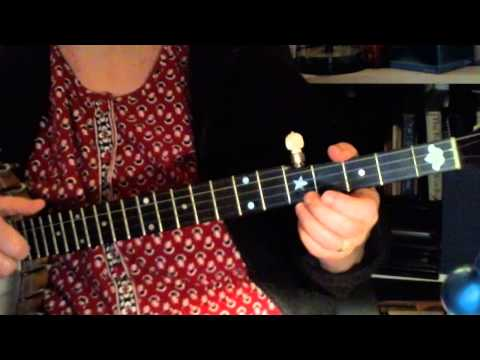 Children, Go Where I Send Thee (a Christmas song for beginning clawhammer banjo)