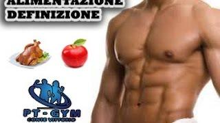menu settimanale per definizione muscolare