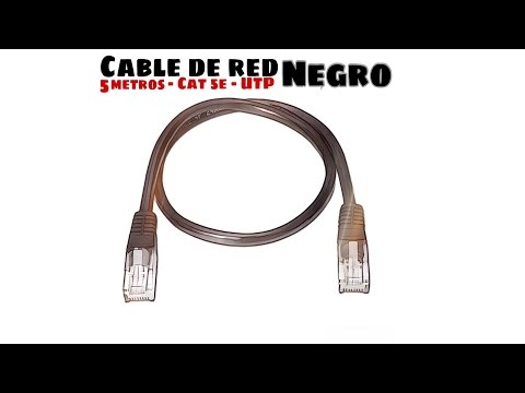 Video de Cable de red UTP CAT5E 5 M Negro