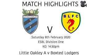 MATCH HIGHLIGHTS 🎥| Little Oakley A 1-4 Boxted Lodgers - ESBL Division One