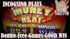 Incogsino Plays the Money Heat Slot!  Double Free Games!