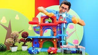 Nail baba PJ Maskelileri büyütüyor! Çocuk videosu