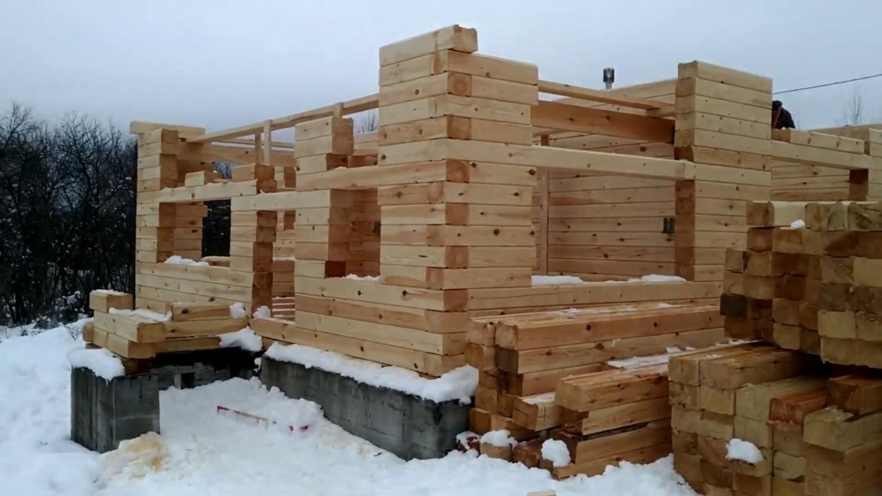 Строительство двухэтажного брусового дома