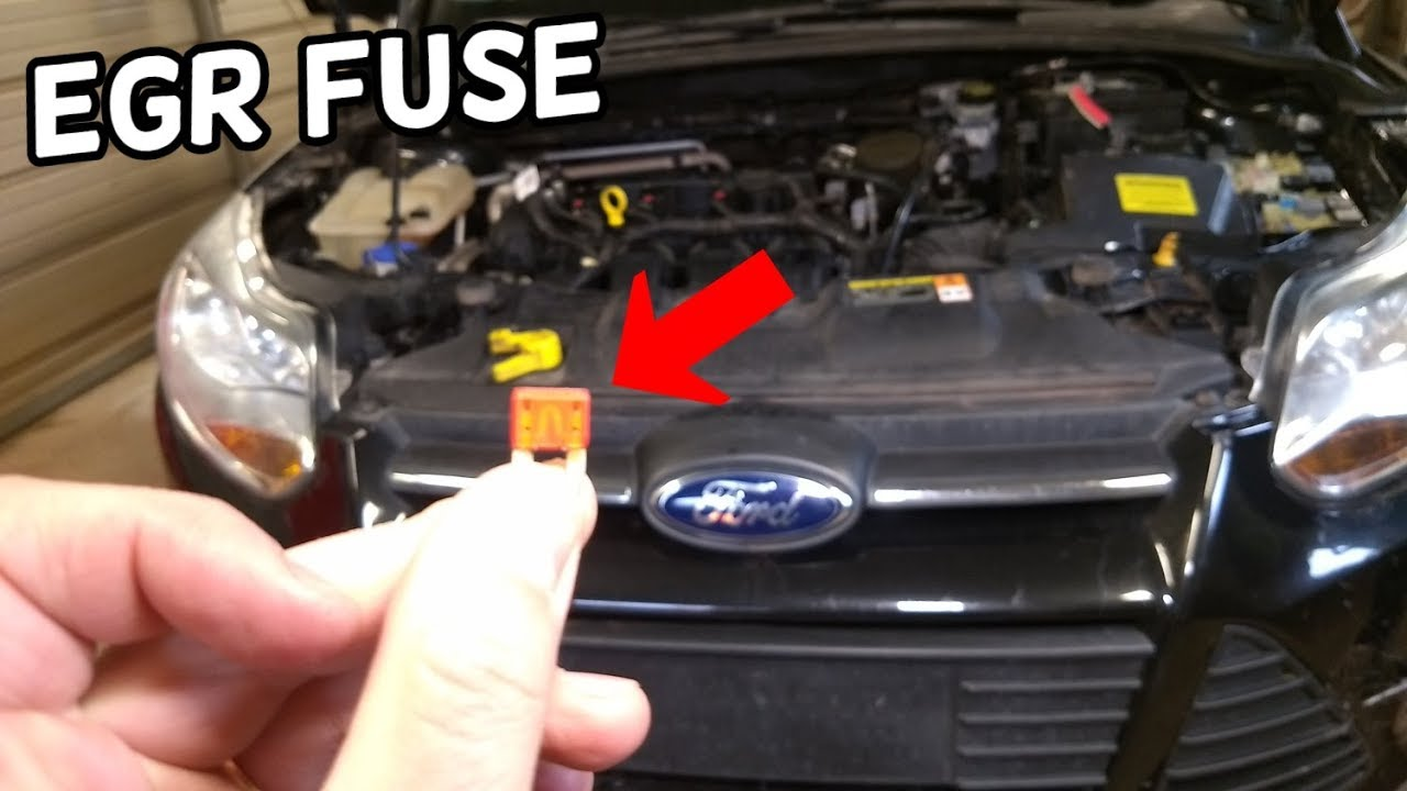 Egr Fuse Location And Replacement Ford Focus Mk3 2012 2018 Youtube