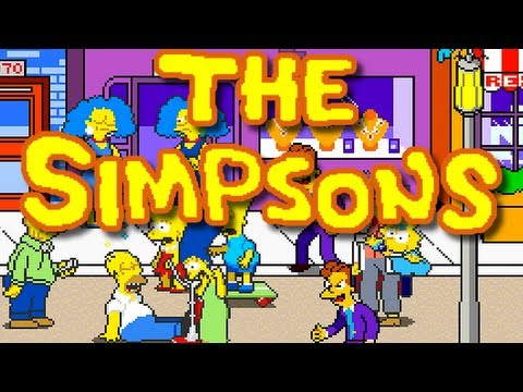 LGR - The Simpsons Arcade Game - Arcade, C64, DOS PC Game Review