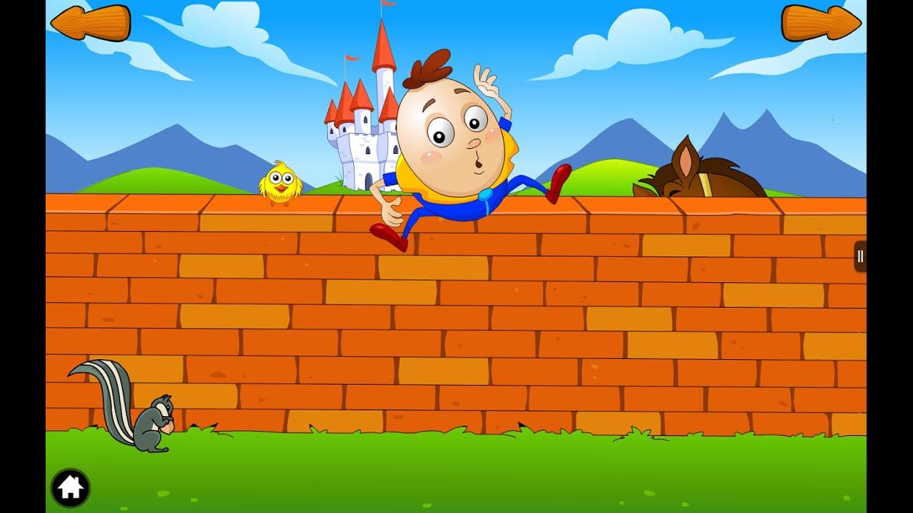 Humpty Dumpty Sat On A Wall Nursery Rhyme Little Baby Bum