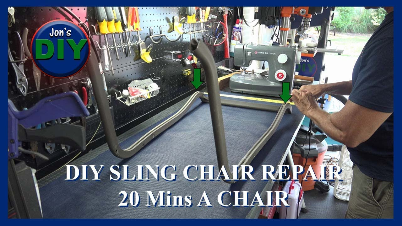 replacement sling covers in less than 20 min a chair jon s diy