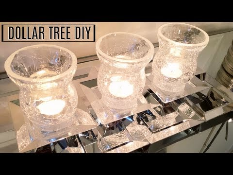 DOLLAR TREE DIY Mirror Tray / Candle Holder