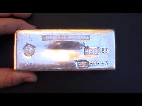50 Oz Johnson Matthey Vintage Hand Poured Silver Bar Doovi
