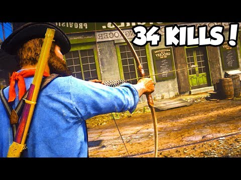 INSANE BOW AND ARROW CHALLENGE in Red Dead Online... (RDR2 ONLINE CHALLENGE)
