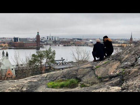 Stockholm Walks: best view, street life and historic houses of Södermalm. Virtual walk on a grey day