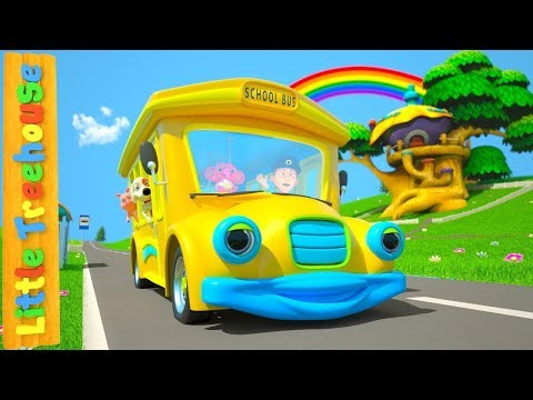 Wheels On The Bus | Cartoons for Babies | Nursery Rhymes for Kids by Little Treehouse
