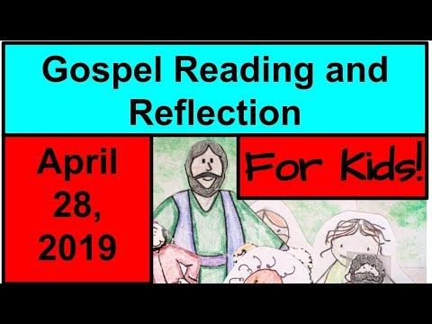 Gospel Reading and Reflection for Kids - April 28, 2019 - John 20:19-31