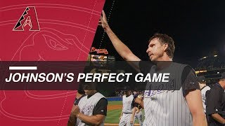 Bottom of the 9th of Randy Johnson\'s perfect game