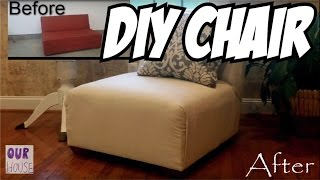 DIY Home Decor - How to Make Upholstered Lounge Chair Subscribe: http://tinyurl.com/hdazdhl We had a space in our house that