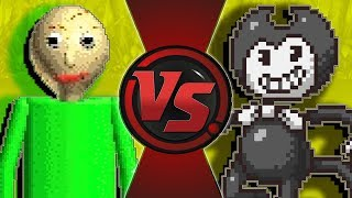 BALDI vs BENDY! (Bendy and The Ink Machine vs Baldi's Basics Animation) CARTOON FIGHT CLUB BONUS