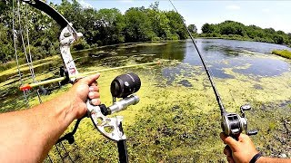 Bow Fishing & Bass Fishing Ponds w/ THICK Grass!!