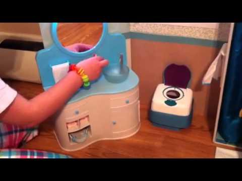 American Doll Bathroom With Chrissa