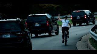 """Stinkefinger für Donald Trump: """"Obszöne Geste"""" kostet Radfahrerin ihren Job"""