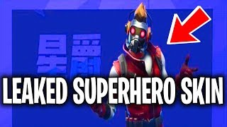 *NEW* Fortnite Avengers Starlord Skin LEAKED Superhero Skins (Starlord, Iron Man, Captain America)
