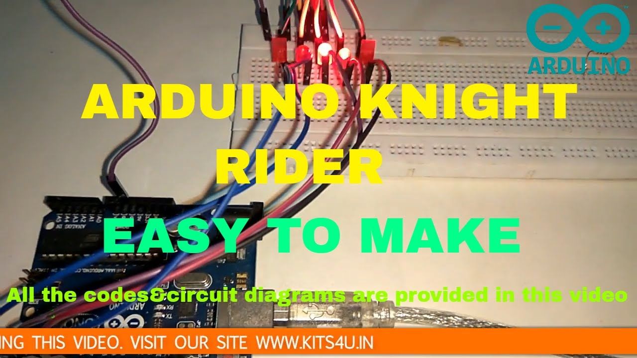 how to make knight rider led circuit at home [ 1280 x 720 Pixel ]