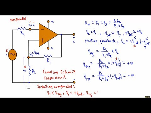 Op - Amp Schmitt Trigger Circuit ( easy explanation )