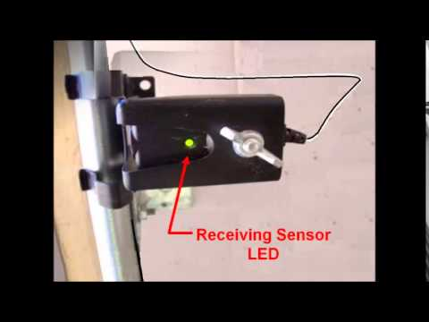 how do i align garage door sensors 2