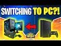 I'M SWITCHING TO PC! Feat. Ninja (Fortnite Battle Royale)