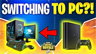 I'M SWITCHING TO PC! Feat. Ninja (Fortnite Battle Royale)