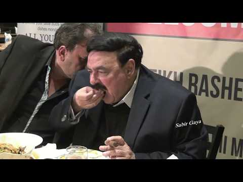 SHAIKH RASHEED  EATING LIKE A REAL LION, ZINDA BAAD  CAMERA: BY SABIR GAYA