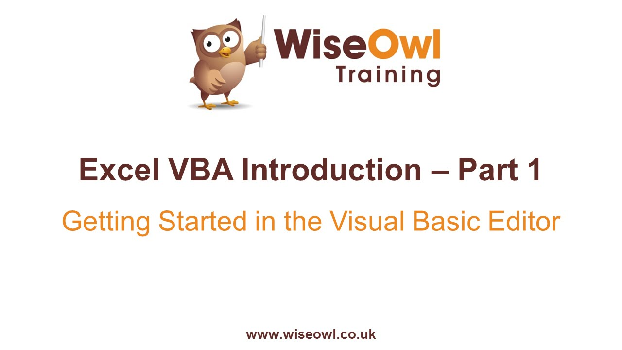 Excel VBA Introduction Part 1 - Getting Started in the VB Editor