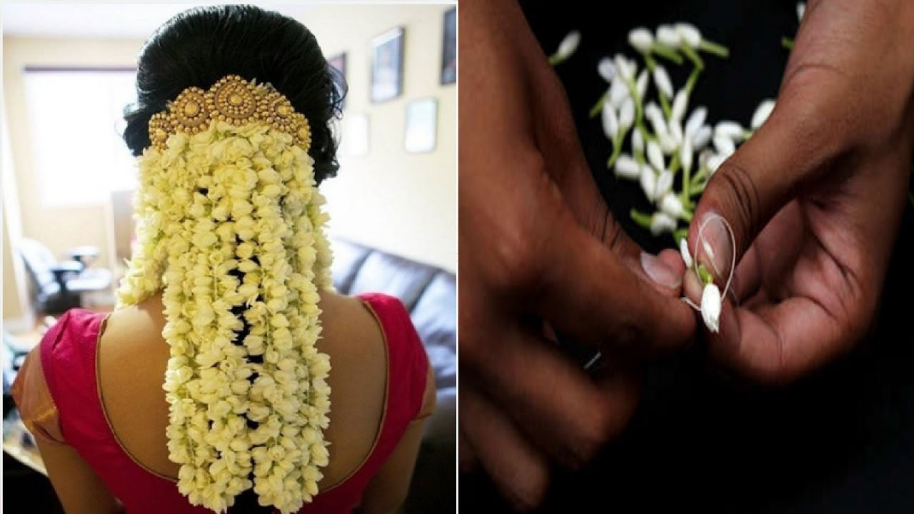 How to string jasmine flower garland how to string flower mogra how to string jasmine flower garland how to string flower mogra gajra izmirmasajfo