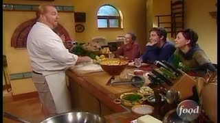 Watch Mario Batali show Jake and Maggie Gyllenhaal how to make fresh pasta lasagna (2003)