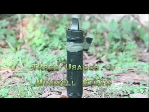 Outdoor Survival Straw Water Filtering System Straw For Hiking, Camping, Hunting, Fishing
