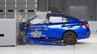 2015 Subaru WRX small overlap IIHS crash test
