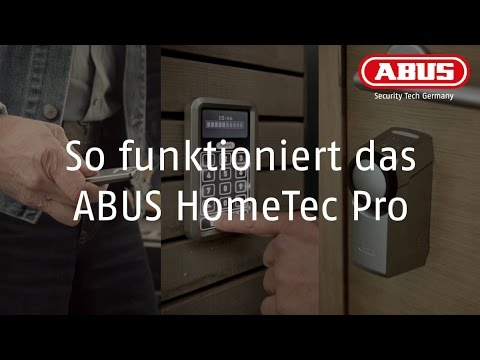 so funktioniert das abus hometec pro youtube. Black Bedroom Furniture Sets. Home Design Ideas