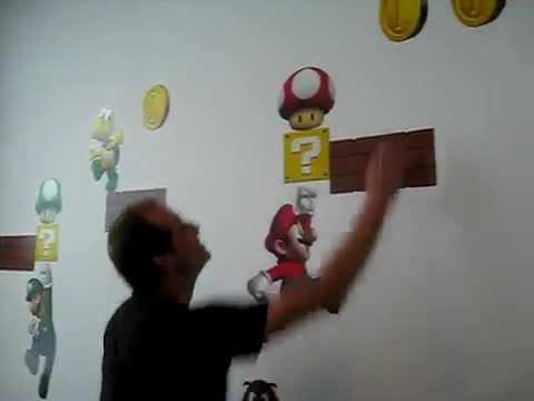 Adesivi Murali Super Mario.Adesivi Da Parete Super Mario Sonori