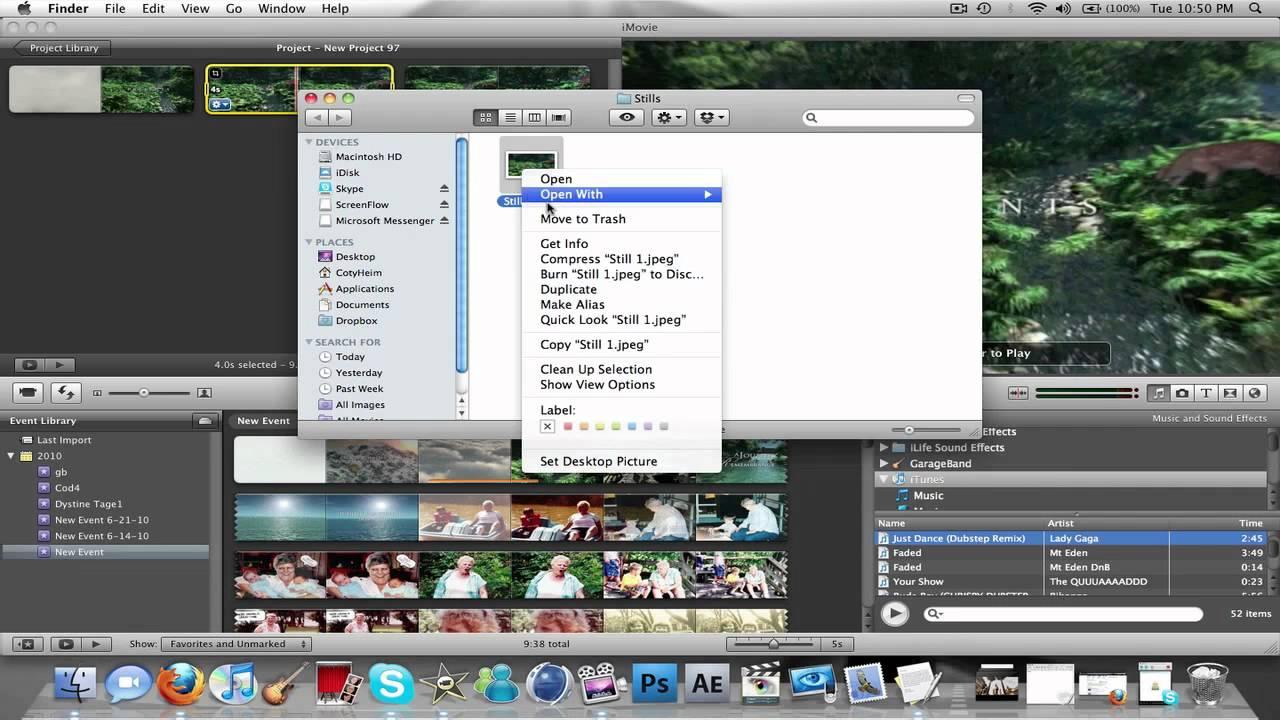 Imovie Tutorial How To Take A Screenshot In Imovie Youtube