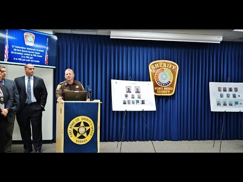 Press Conference on 17 Colombian Nationals Arrested