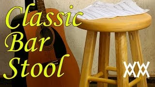 Make a classic wooden bar stool. It's a great guitar stool too!