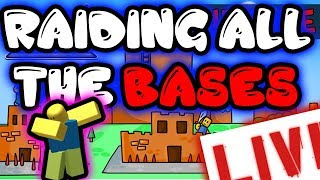 BUILDING THE BEST!?!?! || Base Raiders || Roblox Gameplay || Livestream