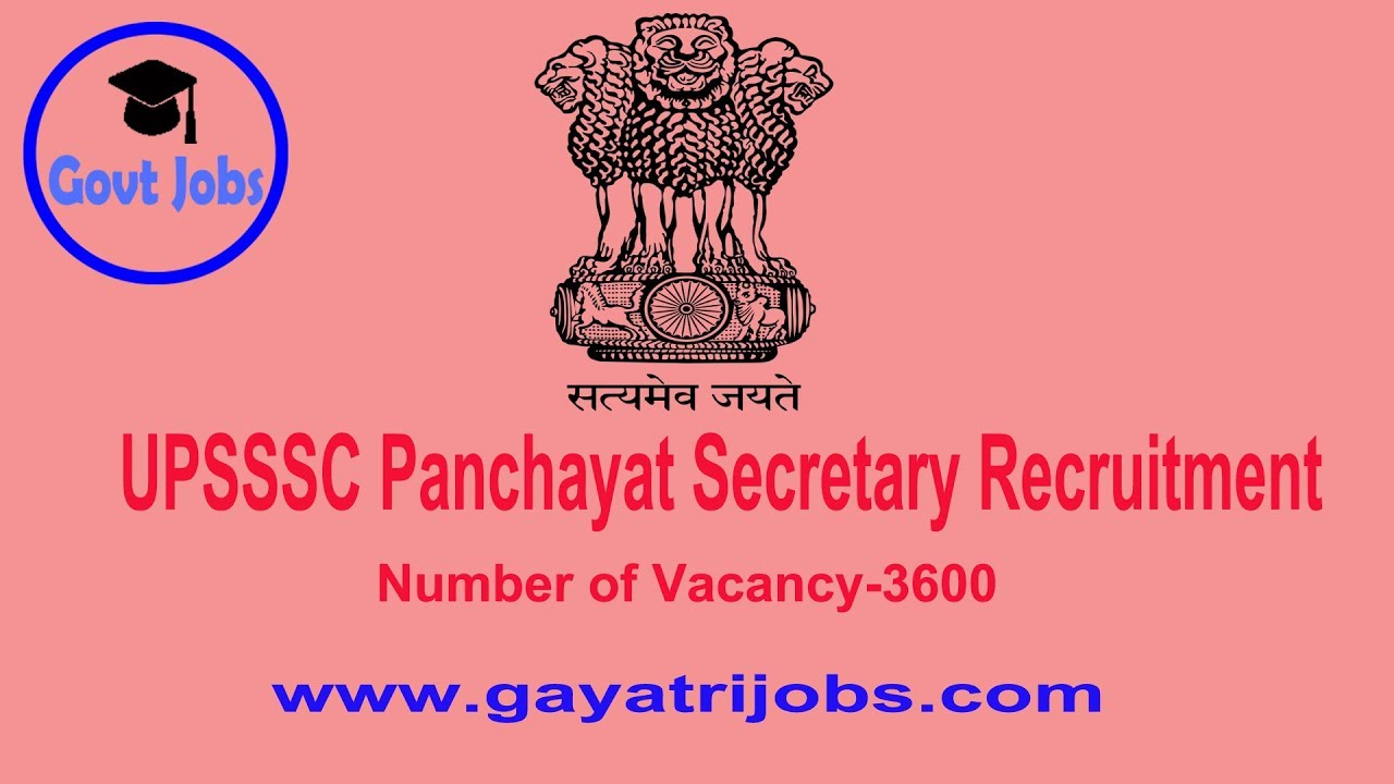 How to Apply Online UPSSSC 3600 Panchayat Secretary Recruitment 2018 Upsssc Job Online Form on computer forms, loan forms, human resources forms, communication forms, online job applications, maintenance forms, online job search, baby forms, online job advertisements, finance forms, work forms, banking forms, online job training,