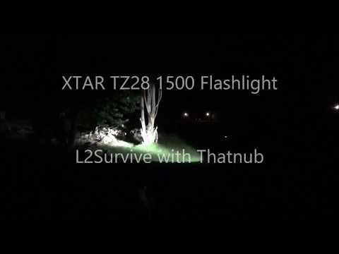 XTAR TZ28 1500 Flashlight L2Survive with Thatnub