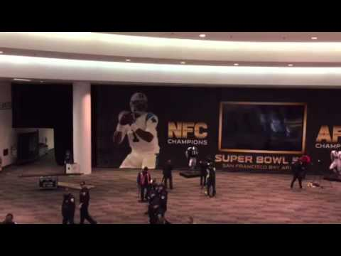 Liked on YouTube: Moscone Center SF South Hall - NFL Experience #SB50